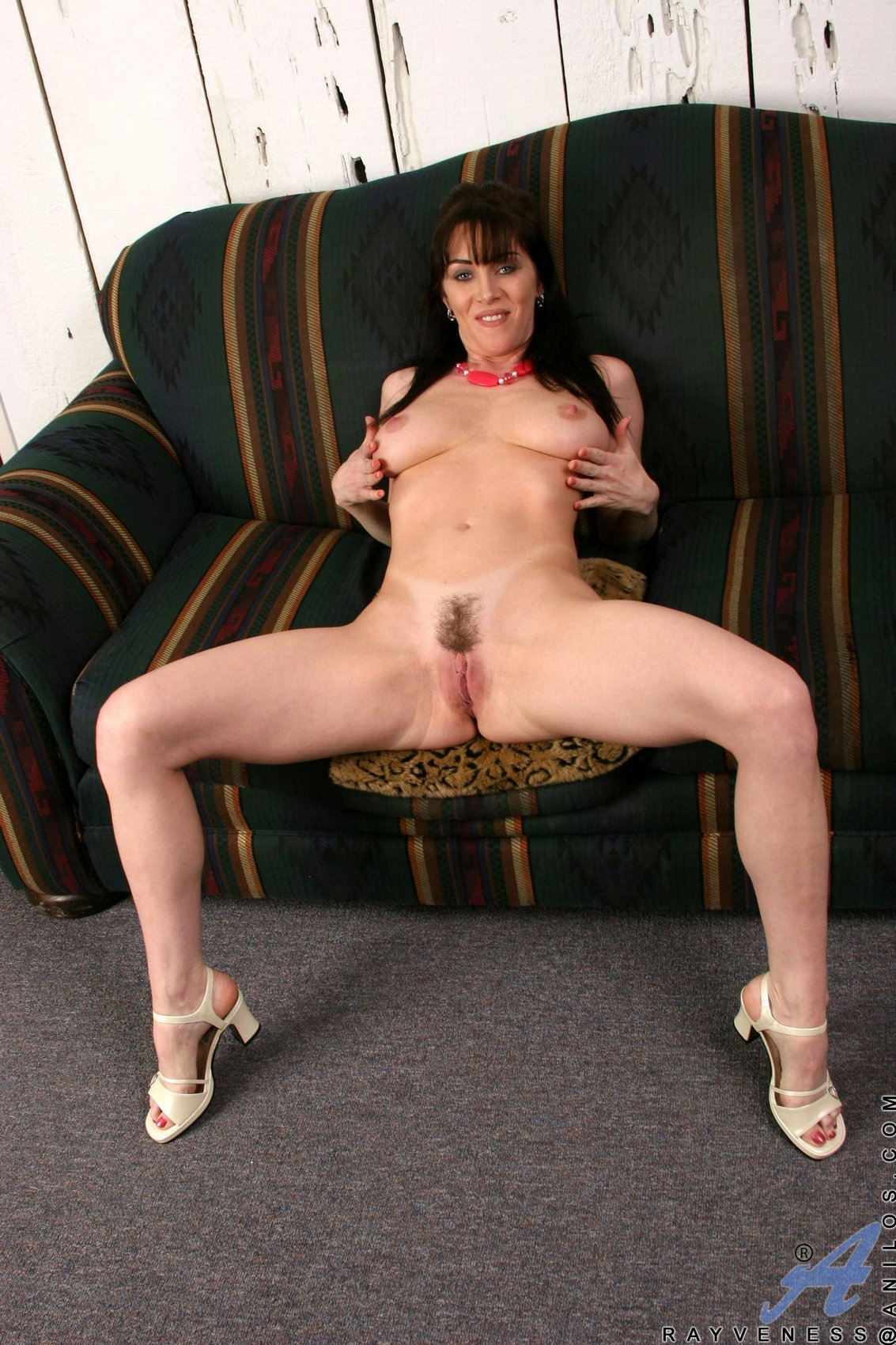 RayVeness stripping and playing with a glass dildo - My ...