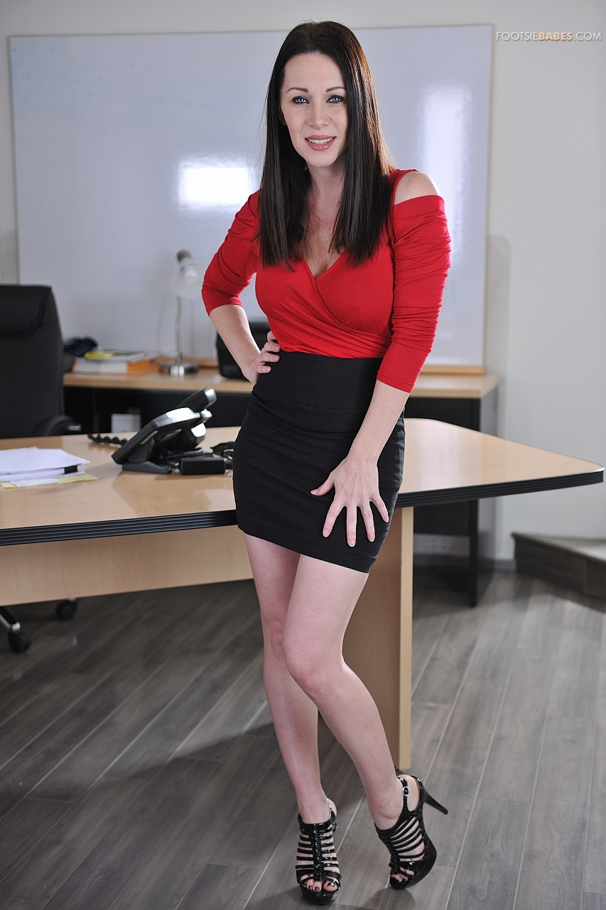 Hot business woman RayVeness strips in the office - My ...