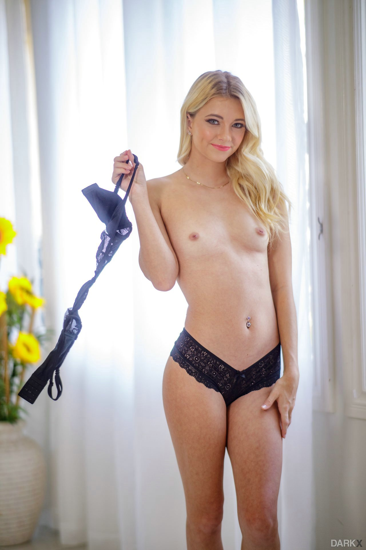 Riley Star Takes Off Her Sexy Black Bra And Panties - My -1172