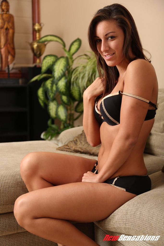 Hot brunette shows her sexy feet 2