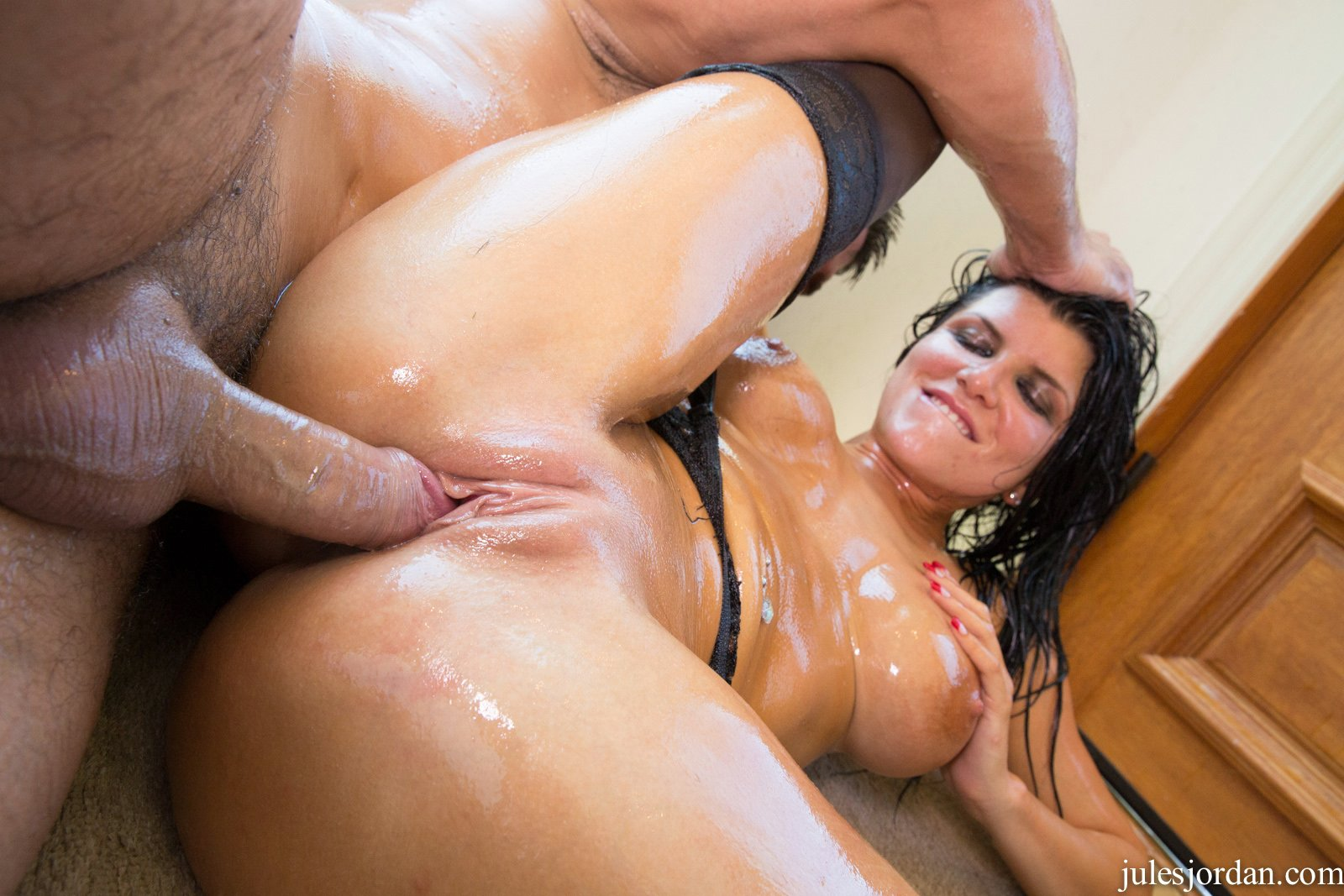 Hot Oiled Bitch Romi Rain Gets Fucked Rough - My Pornstar Book-9861