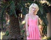 Tiny titted skinny teen Sammie Daniels doffs short dress to pose naked outside  207144