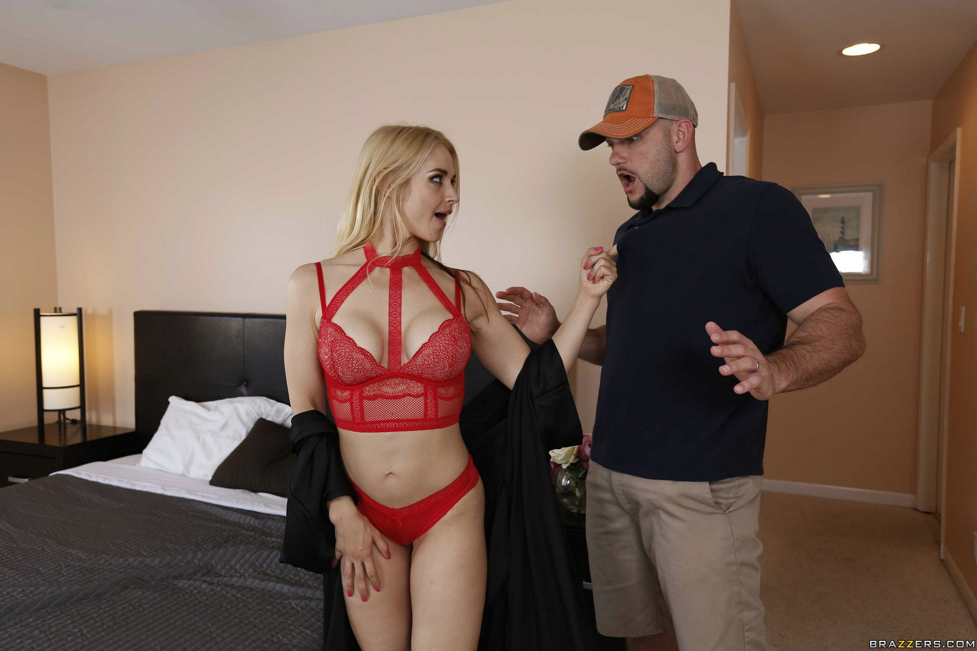 Opinion blonde in lingerie sucking and fucking you