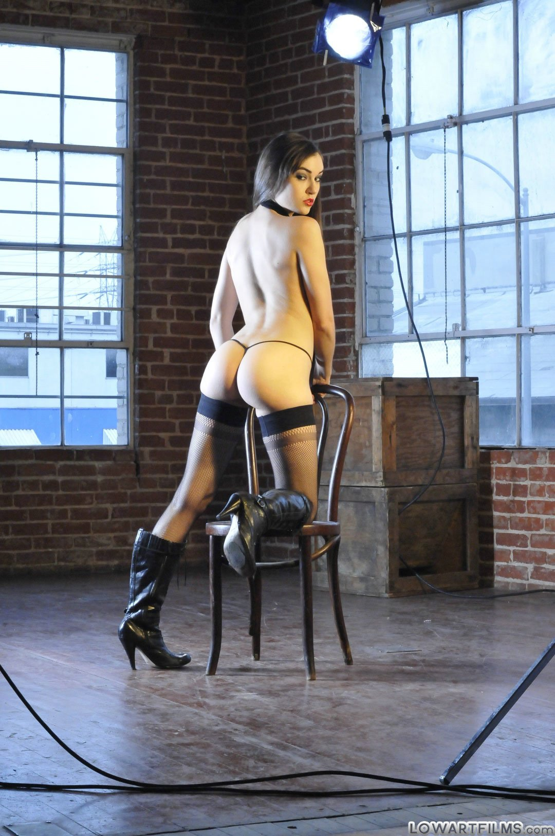 Sasha Grey Posing In Black Stockings And High Boots - My -4556