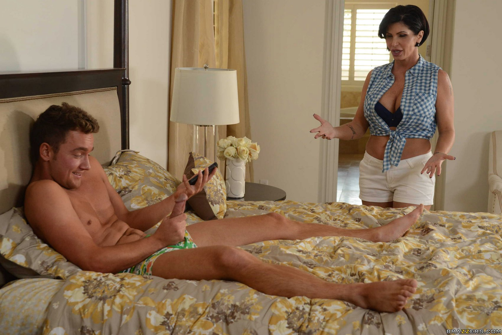 Adorable mom Shay Fox slides son's cock between the big tits while fucking № 201125 бесплатно