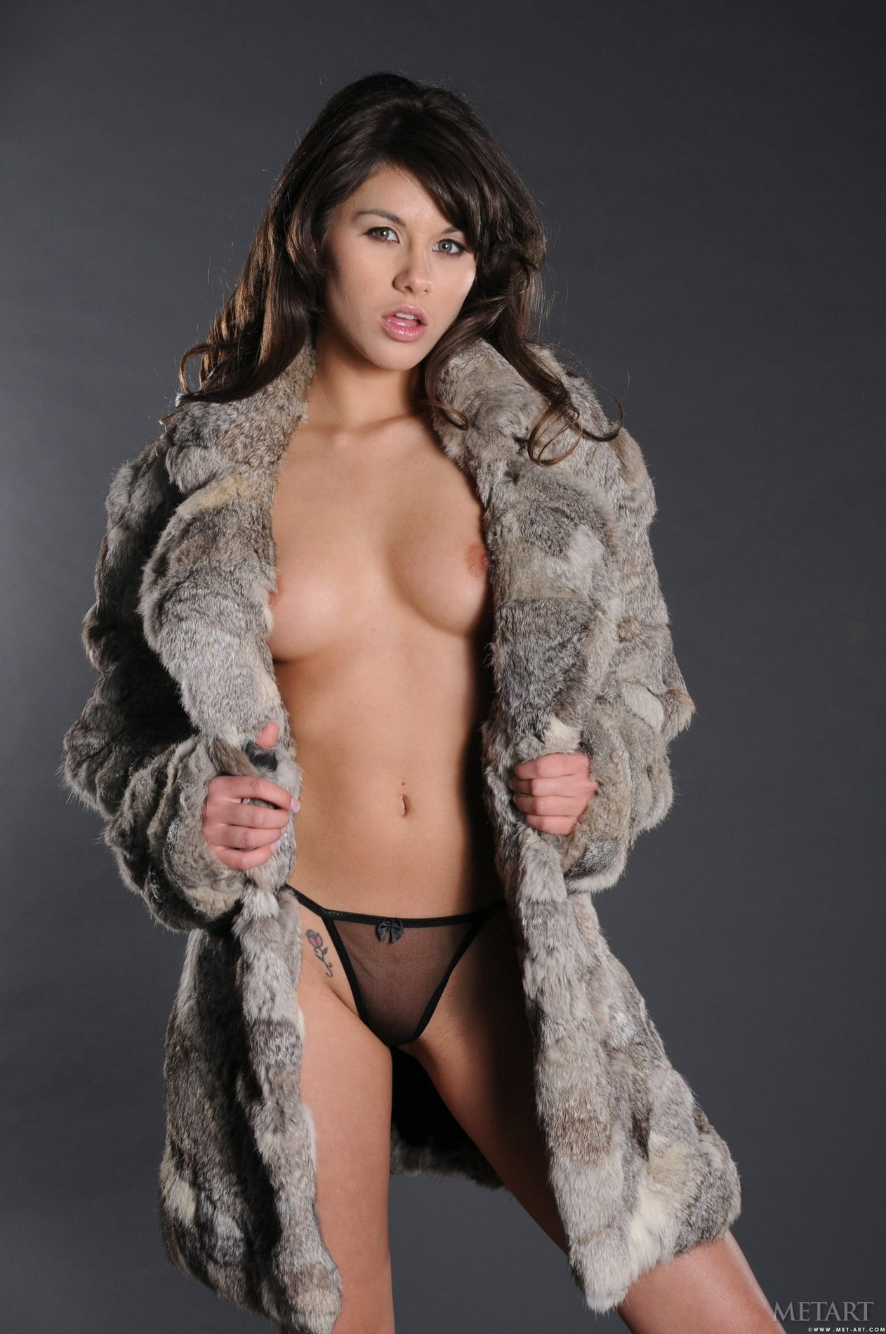 pretty brunette shyla jennings poses naked in front of the