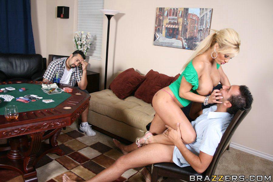 sex scene on poker table