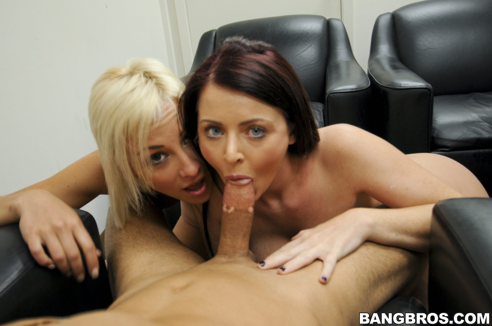 Hot double blowjob