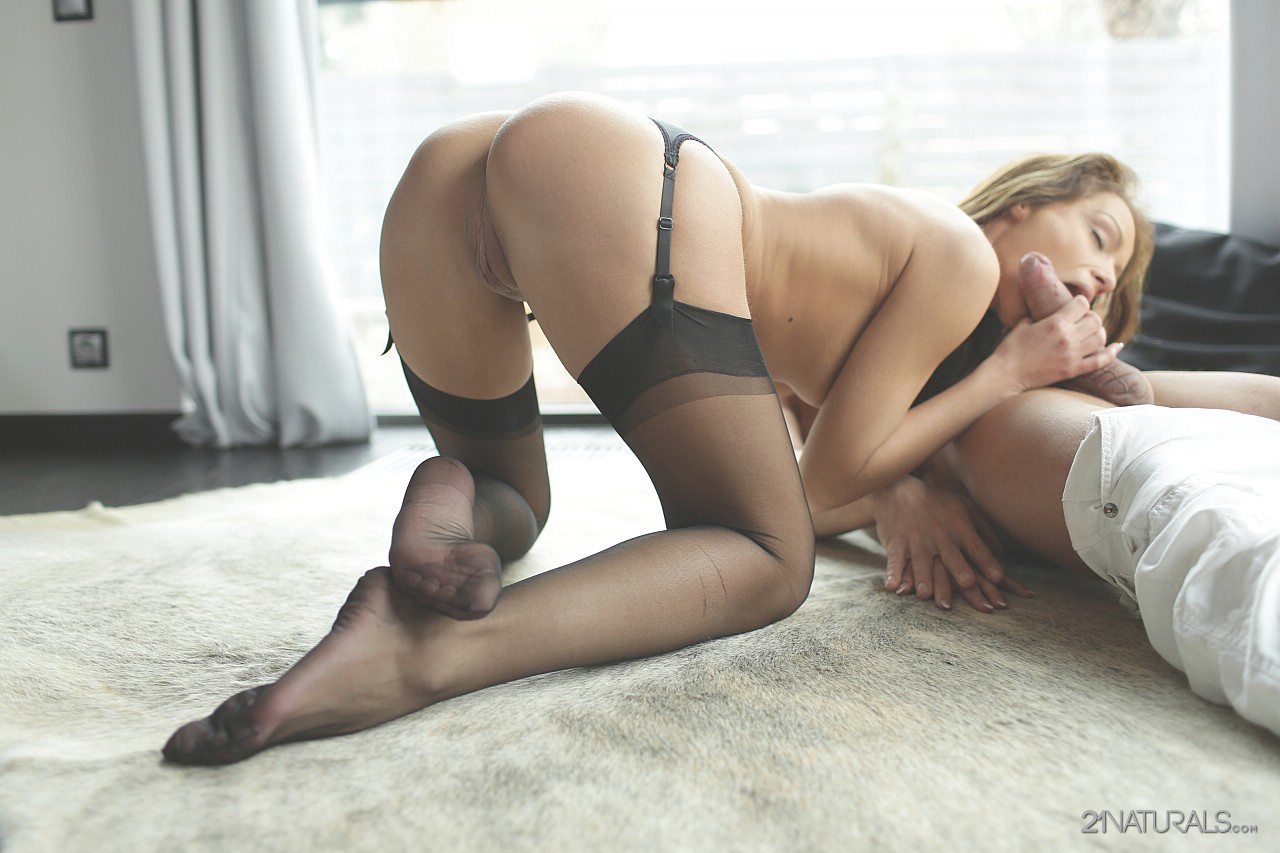 Nylon footjob pantyhose cum stockings feet 1