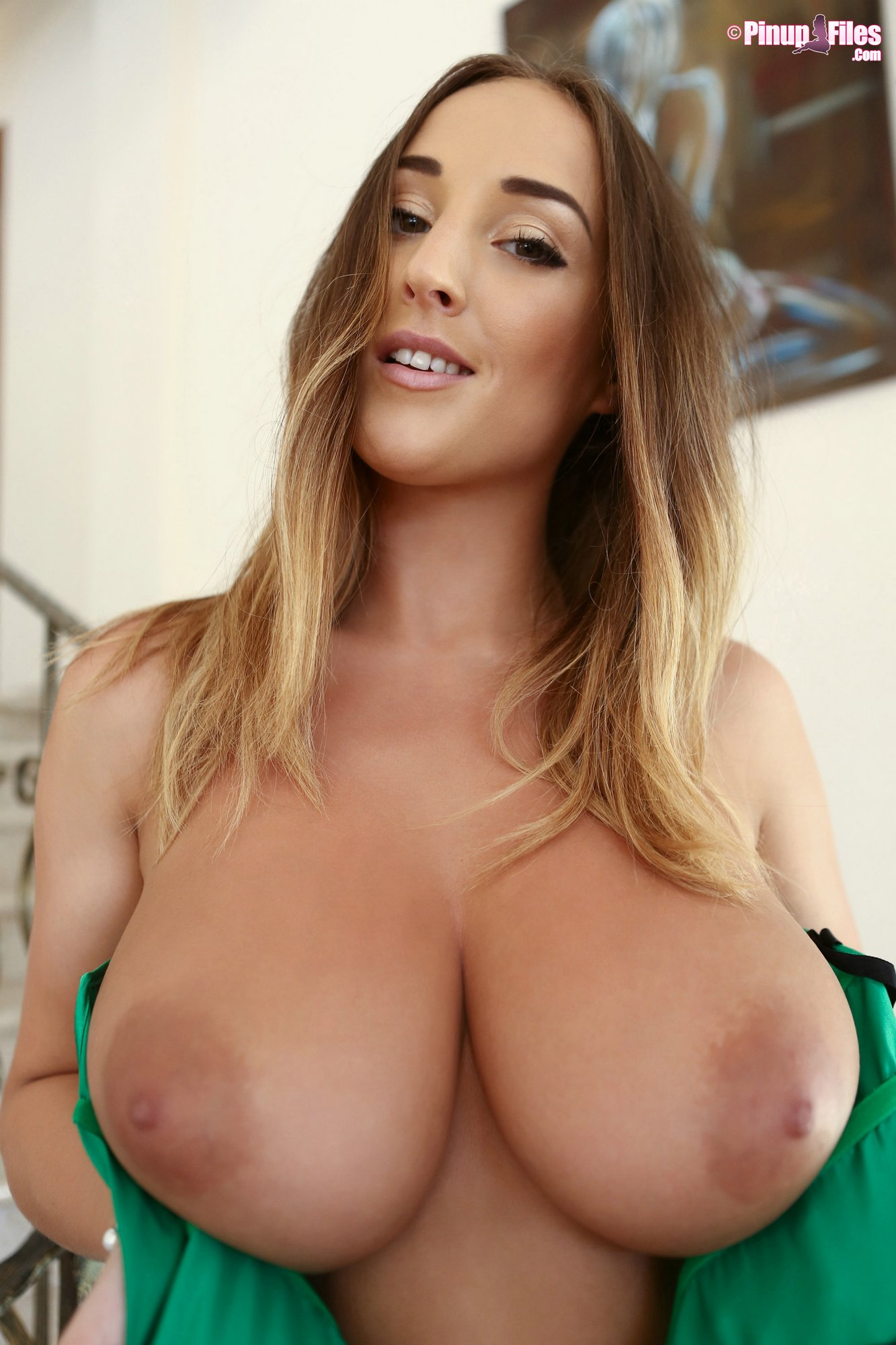 Stacey Poole In Sexy Corset Posing On Stairs - My Pornstar -3730