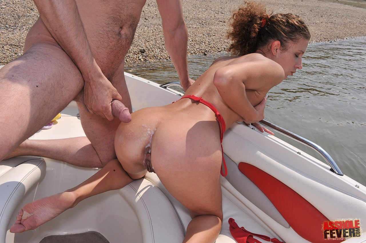 Wife fucked hard in the boat