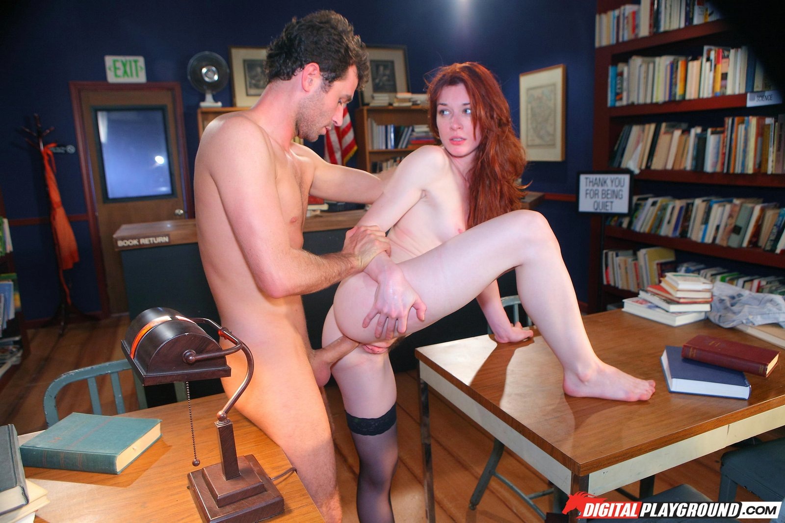 Beautiful redhead Stoya getting fucked in the library - My ...