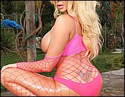 Pink fishnet softcore our