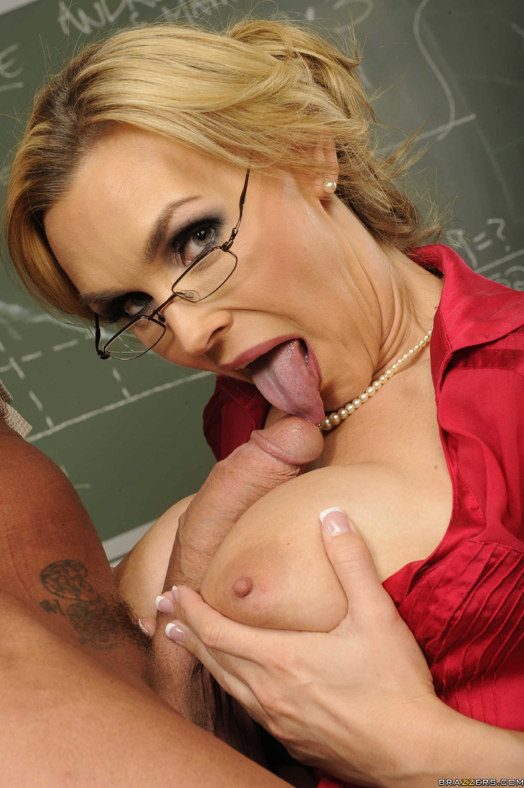 Tanya Tate in black stockings gets fucked hard in the ...