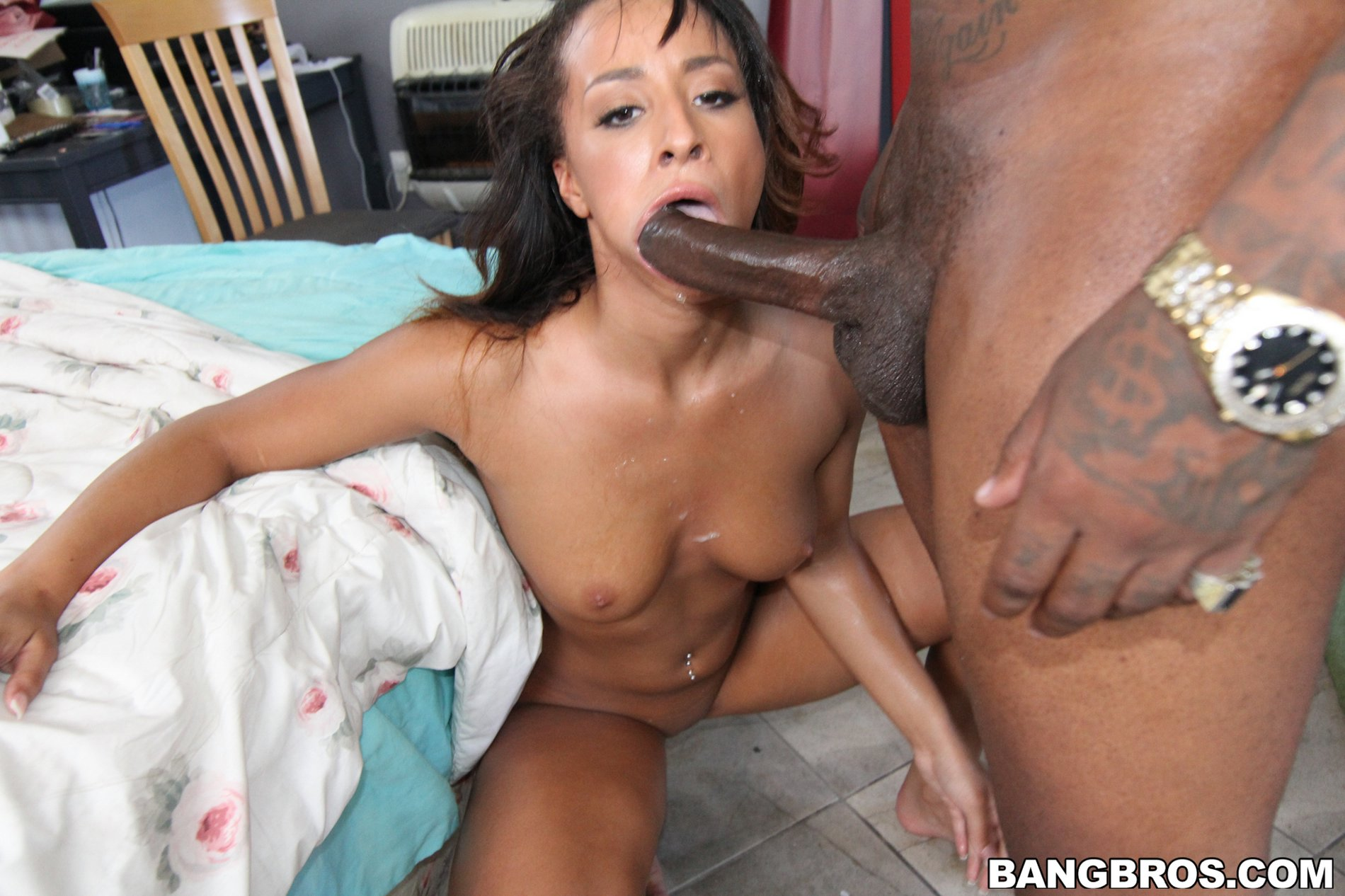 teanna trump takes huge black cock in her tight wet pussy