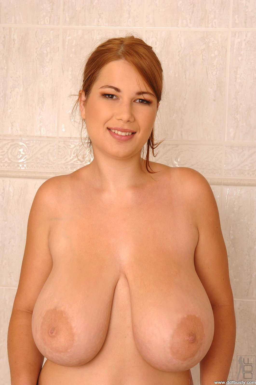 Terry Nova Playing With Huge Natural Tits In The Bathroom -8801