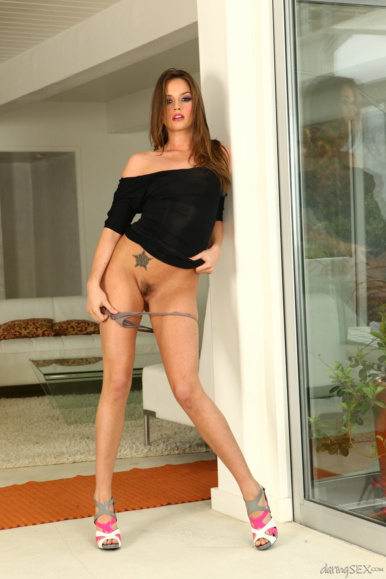 Tori Black Strips Off Her Sexy Short Black Dress - My -3421