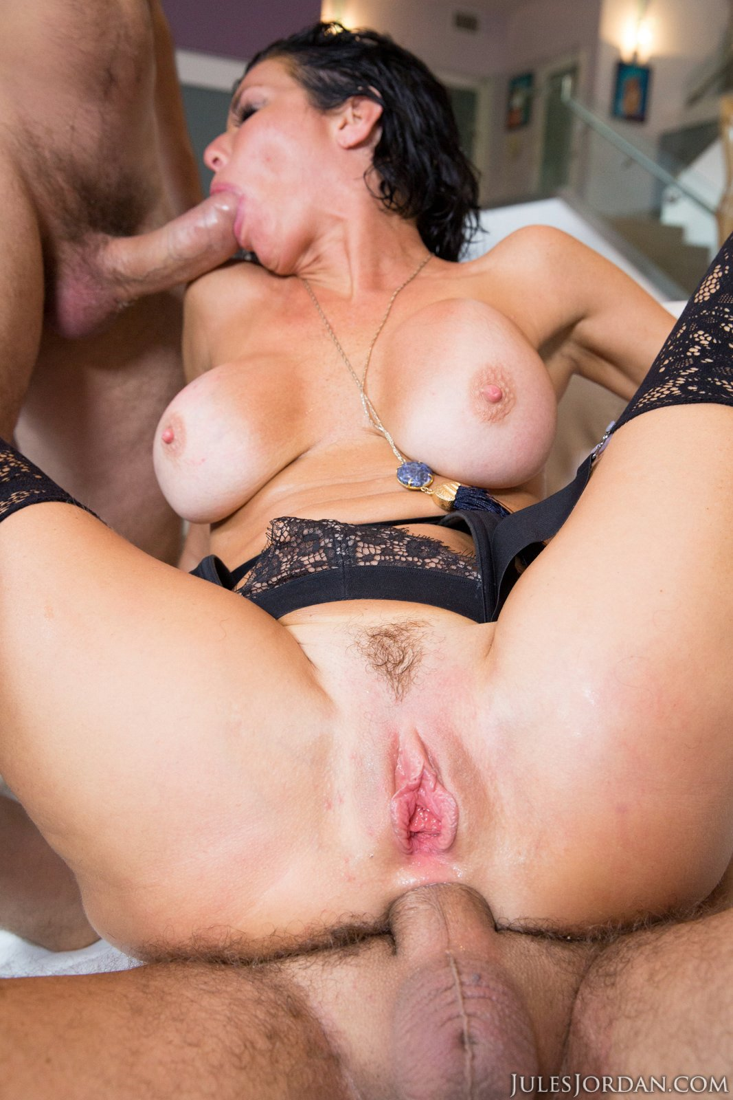 Veronica Avluv gets fucked rough by two guys - My Pornstar ...