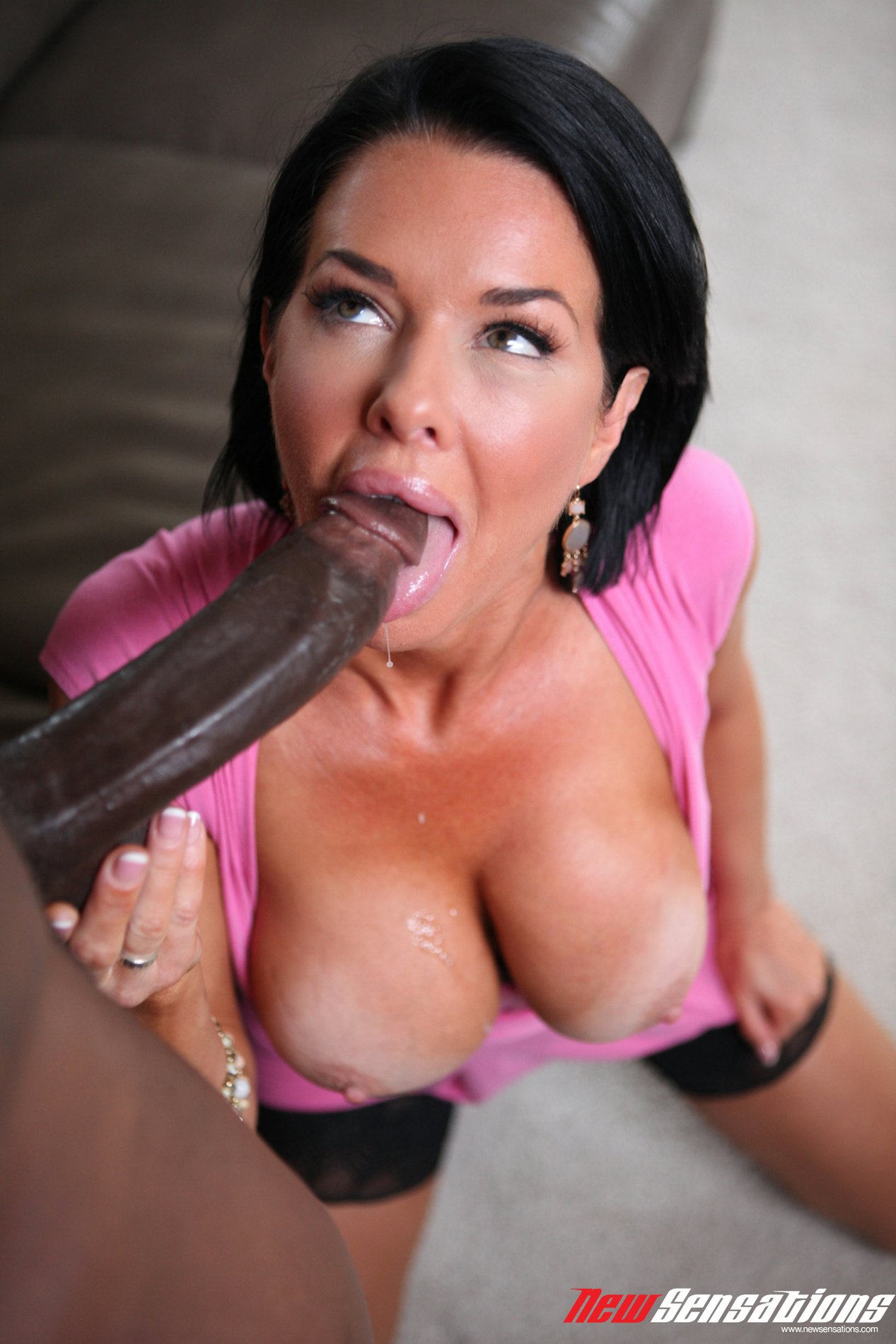 Pink pussy and black cock
