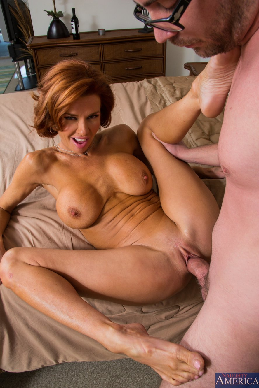 Young hot red head needs two hands to jerk cock 1