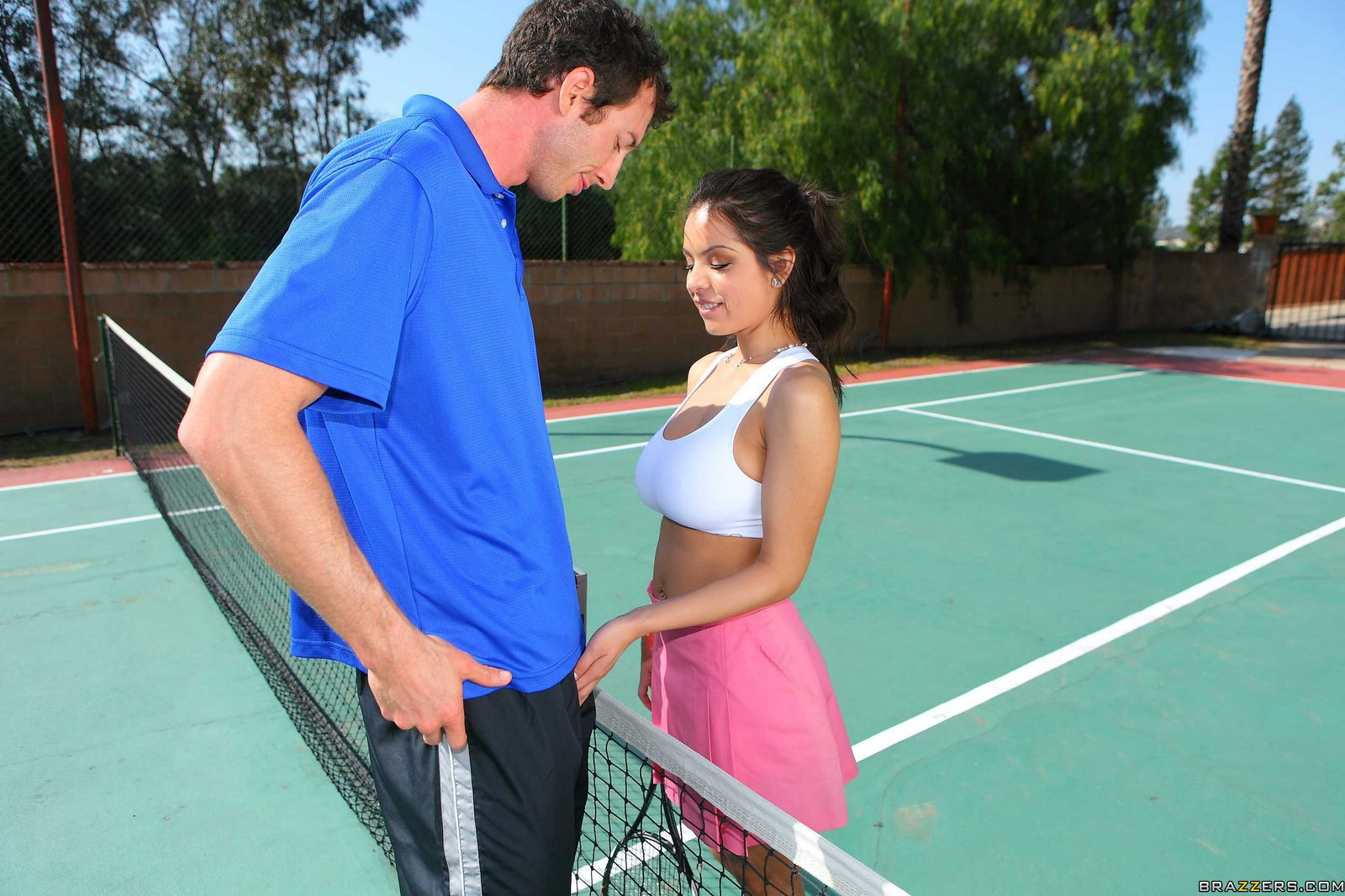 Having sex with tennis player
