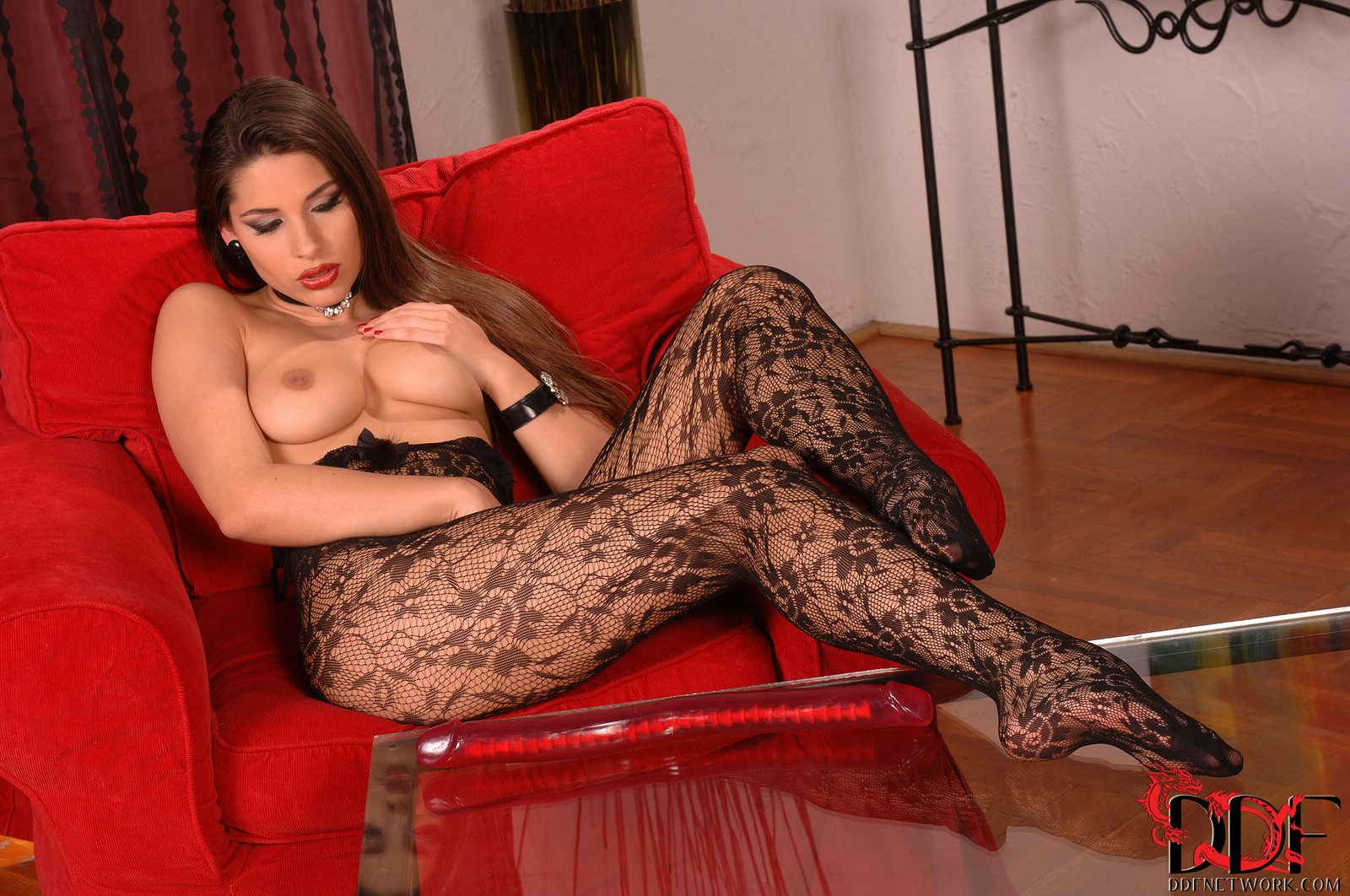 Showing off pantyhose for that