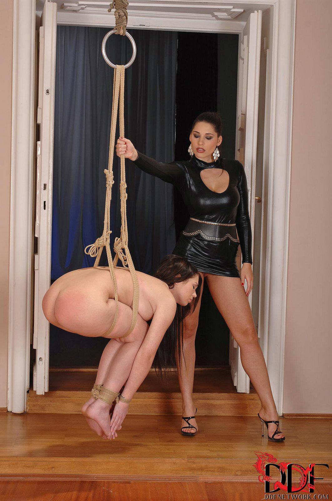 Classy mistress Zafira punishing her slave girl Antonia W ...
